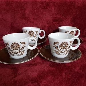 Other - VINTAGE WOOD & SONS WELLESLEY cup saucer 4 avail